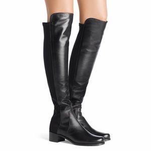 Stuart Weitzman 50/50 Leather Over-the-Knee Boot